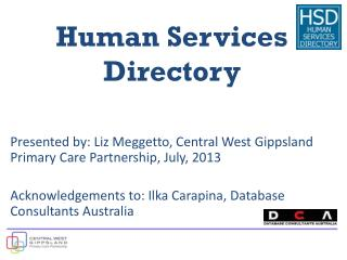 Human Services  Directory