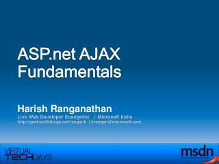 ASP AJAX Fundamentals