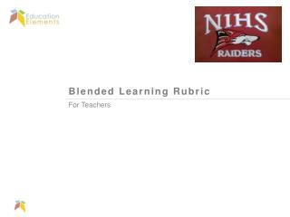 Blended Learning Rubric