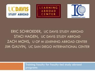 Training faculty for faculty-led study  abroad programs