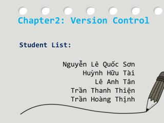 Chapter2: Version Control