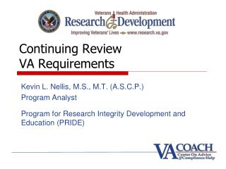 Continuing Review VA Requirements
