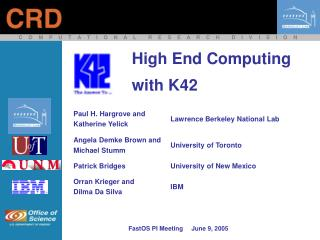 High End Computing with K42