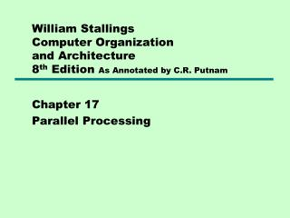 Chapter 17 Parallel Processing