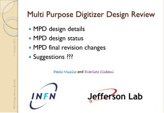 Multi Purpose Digitizer Design Review