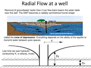 Radial Flow at a well