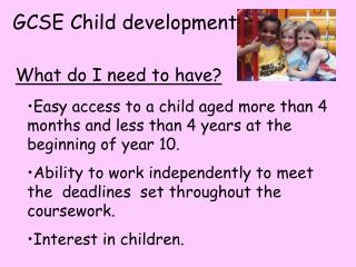 GCSE Child development.