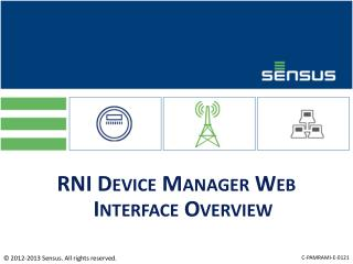 RNI Device Manager Web Interface Overview