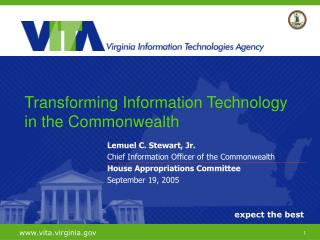 Lemuel C. Stewart, Jr. Chief Information Officer of the Commonwealth