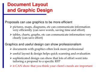 Document Layout  and Graphic Design