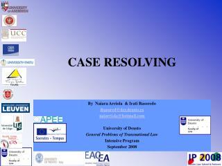 CASE RESOLVING