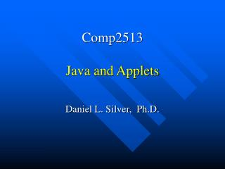 Comp2513 Java and Applets