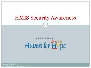 HMIS Security Awareness