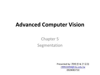 Advanced Computer Vision
