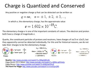 Charge is Quantized and Conserved
