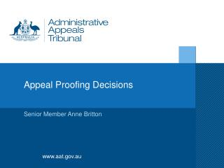 Appeal Proofing Decisions