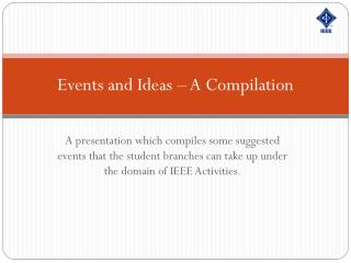 Events and Ideas  –  A Compilation