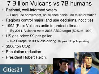 7 Billion Vulcans vs 7B humans