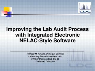 Improving the Lab Audit Process with Integrated Electronic NELAC-Style Software