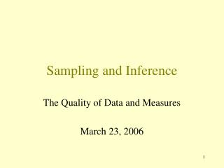 Sampling and Inference