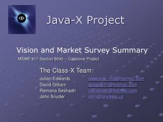 Java-X Project