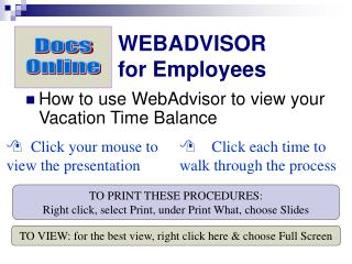 WEBADVISOR for Employees