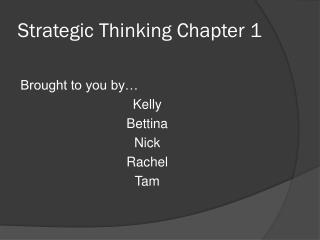 Strategic Thinking Chapter 1