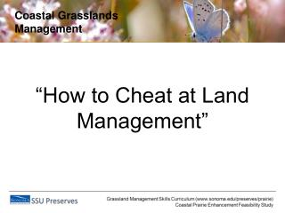 Coastal Grasslands Management