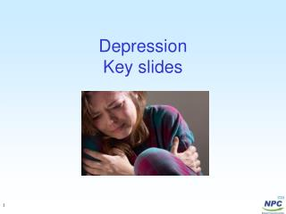 Depression  Key slides