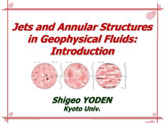 Jets and Annular Structures  in Geophysical Fluids: Introduction