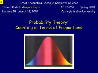 Probability Theory: Counting in Terms of Proportions
