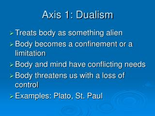 Axis 1: Dualism