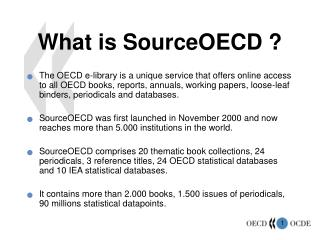 What is SourceOECD ?