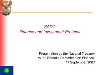 SADC  Finance and Investment Protocol