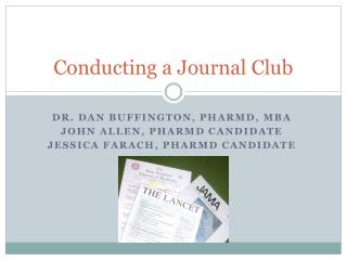 Conducting a Journal Club