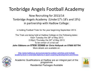 Tonbridge Angels Football Academy