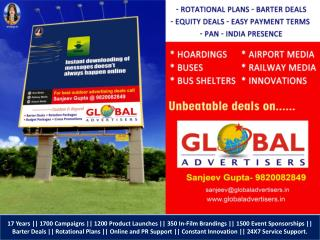 • Rotational Plans • Barter Deals • Equity Deals • Easy Payment Terms