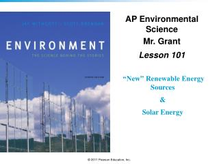 AP Environmental Science Mr. Grant Lesson  101