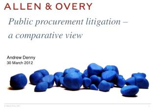 Public procurement litigation –  a comparative view