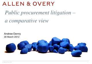 Public procurement litigation – a comparative view