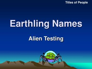 Earthling Names
