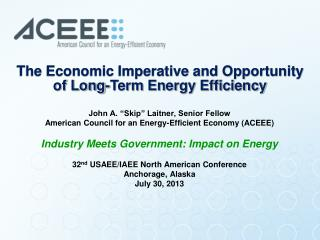 The Economic Imperative and Opportunity of Long-Term Energy Efficiency
