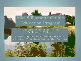 Mid-Willamette Online Education Program