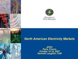 North American Electricity Markets