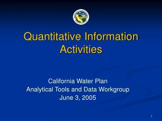 Quantitative Information Activities