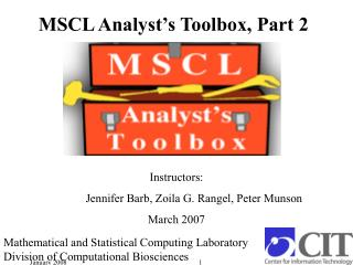 MSCL Analyst's Toolbox, Part 2