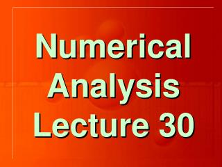 Chapter  7 Numerical    Differentiation  and   Integration