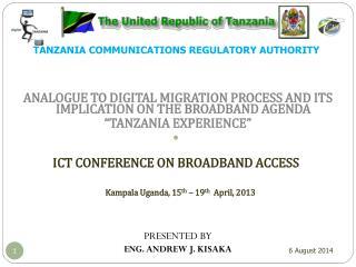 TANZANIA COMMUNICATIONS REGULATORY AUTHORITY