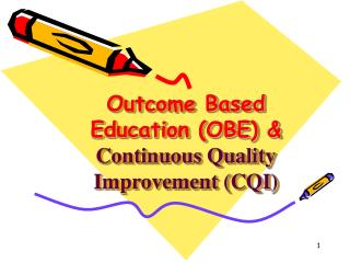 Outcome Based  Education OBE  Continuous Quality  Improvement CQI