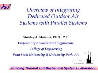 Overview of Integrating Dedicated Outdoor Air Systems with Parallel Systems